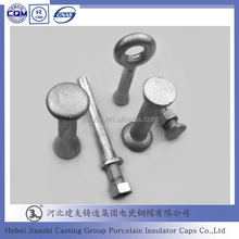 composite insulator ball end fitting railway casting and forged insulator metal parts