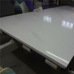 High glossy resin shower panel/ kitchen countertop crystal white quartz