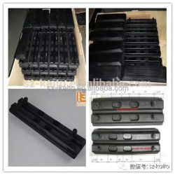 Excavator Crawler Rubber Track Pad Track Shoes 400mm 500mm for Hitachi Hyundai