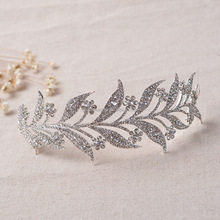 Crystal leaves Vine Wedding Headband Hair Accessories Bridal Head Tiaras Hair Jewelry Women wedding crowns