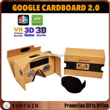 Google Cardboard V2 Virtual Reality Headset /VR Glasses 3D Viewer Smartphones up to 6""