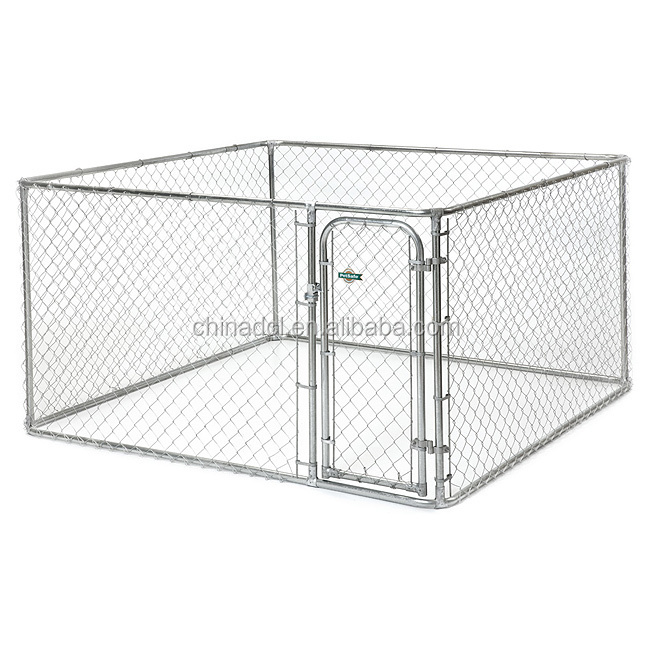 2.3X2.3X1.2m galvanized chain link dog run kennel/dog house/outdoor pet cages with roof or not