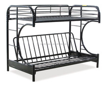 Double decker metal folding bunk bed BED-M-15
