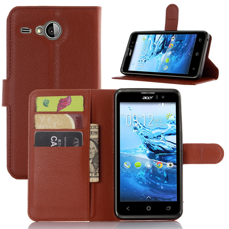 Flip Cover Case for Acer Liquid Z520 with Card Slots and Stand function, PU Leather Wallet Phone Case for Acer Liquid Z520
