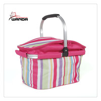 High quality portable picnic wine cooler basket