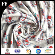 Custom new design high quality digital printing tubular 100% cotton jersey knit fabric