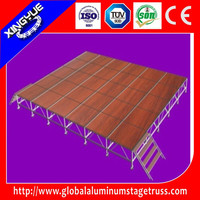 aluminum 4x8ft removable wooden stage