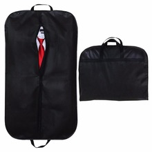 Black foldable travel breathable suit packaging garment bag with Handles