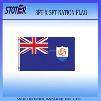 cheap polyester anguilla national flag