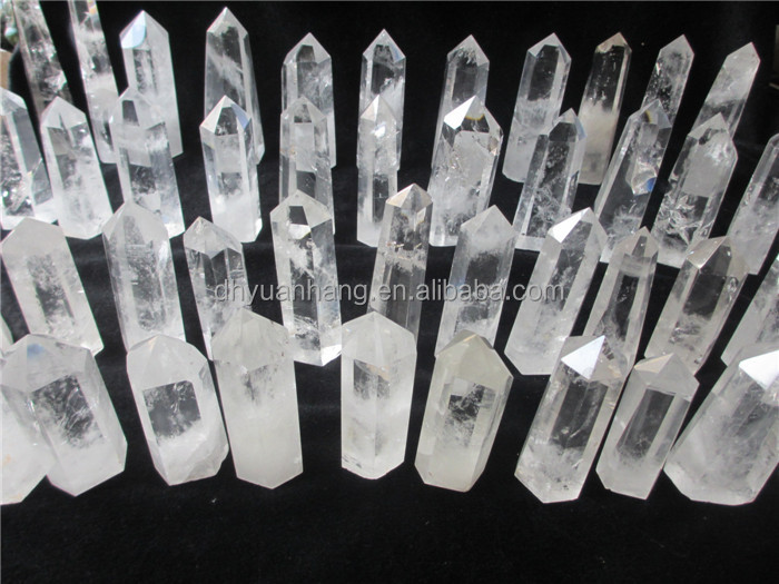 amazing natural clear quartz crystal points for pendants,clear top quartz crystal points