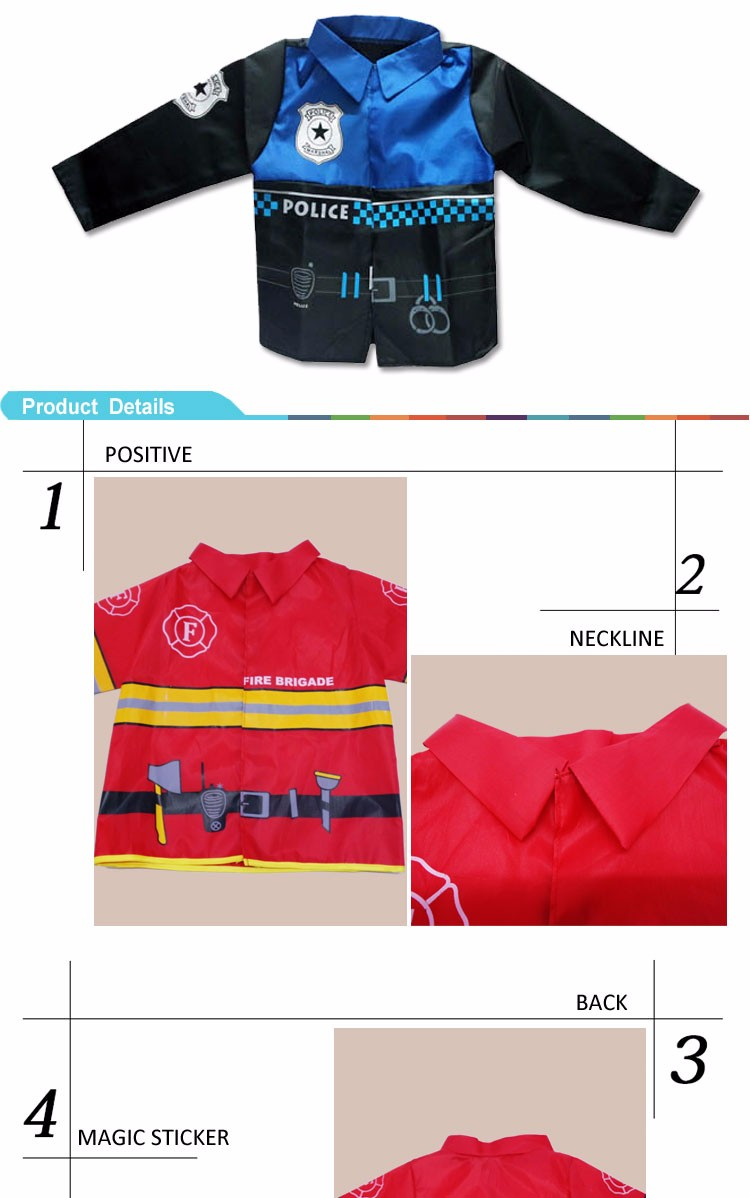 Professional fireman costume fireman suits clothing for kids