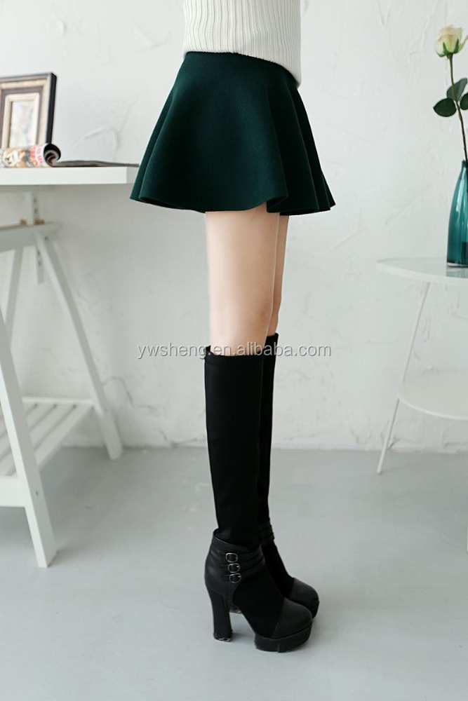 HOT SELLING FASHION CASUAL SPRING AUTUMN WINTER SKIRTS SWEET MINI SHORT COTTON SKIRTS TEEANGER KNIT SOLID COLOR SKIRT