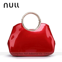 Factory supply Lowest price ladies PU patent leather pvc nylon handbag