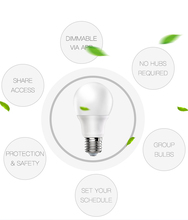 Smart Bulb Dimmable White Smart Light, E27 Wifi Bulb,No Hub Required, App Remote Control& Voice Control Works with Amazon Alexa