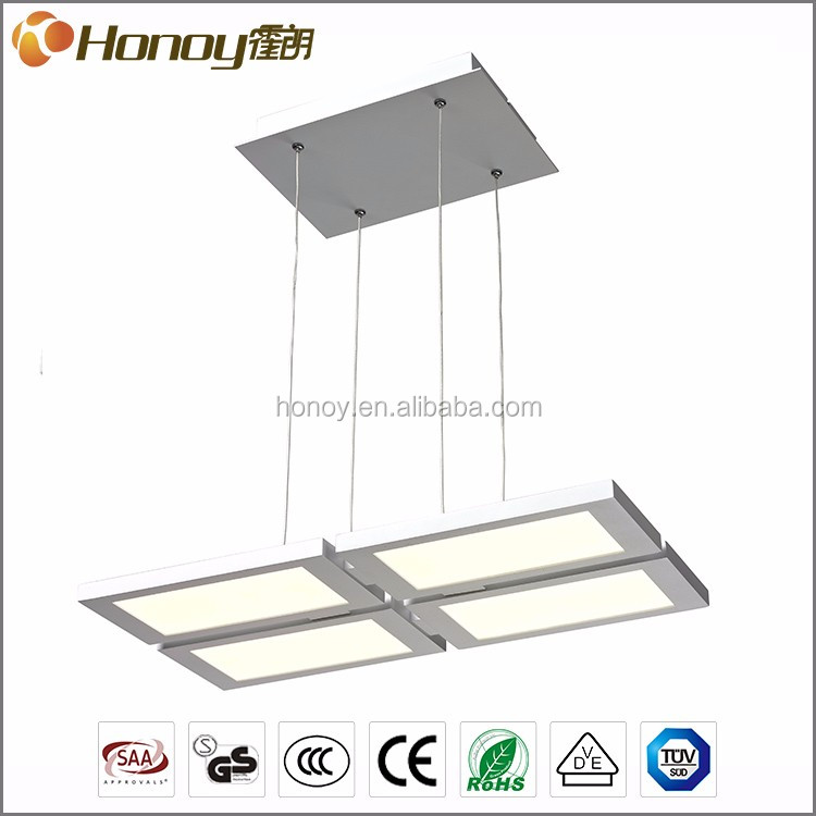 Best price TUV approval 3 years warranty living room lighting acrylic indoor LED modern pendant lamp