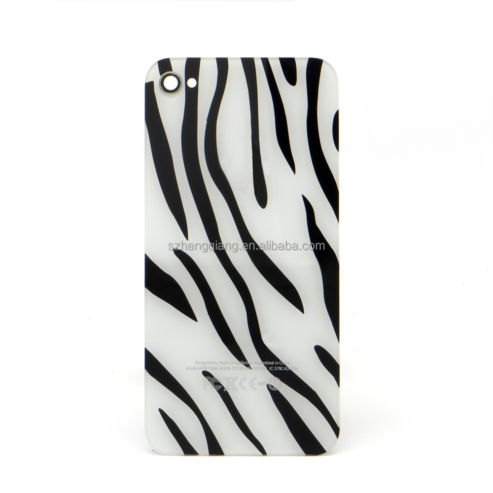 Zebra-stripe Diamond Back Cover Case For Iphone 4 4g