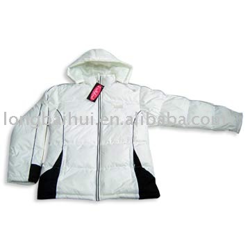 ployester with PVC coating winter jacket stocklot for women