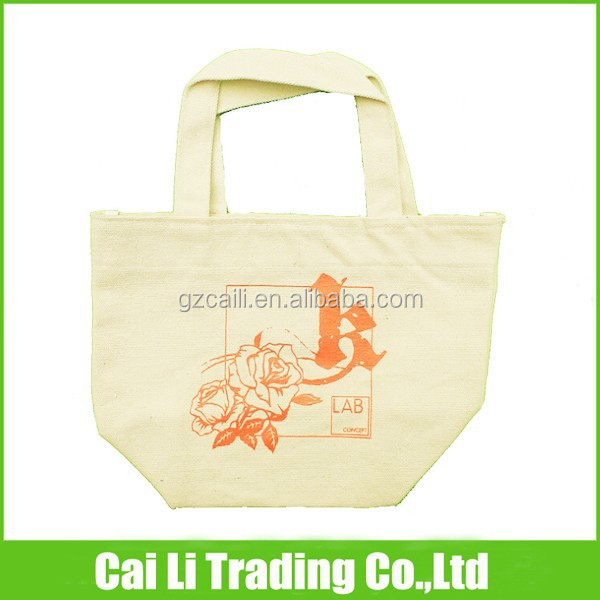 handle rope foldable cotton shopping bag
