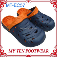 Color Constrasting Plastic Clogs For Men