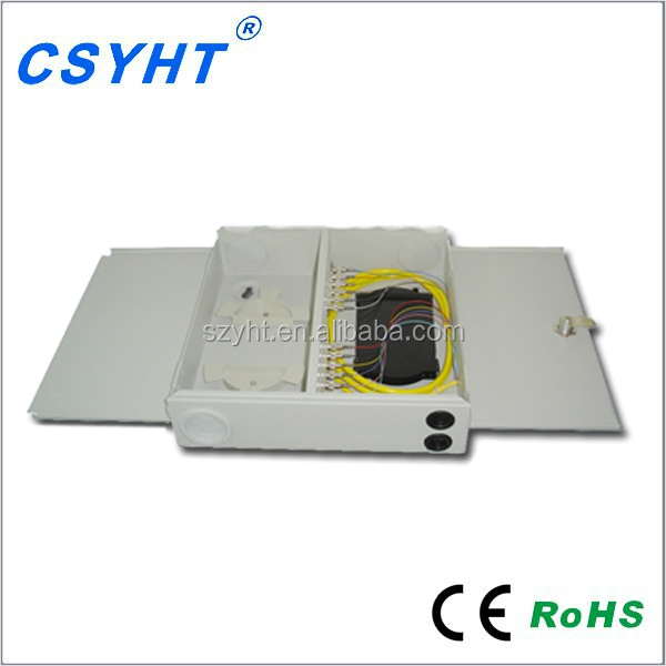 12 port FTTH Network Fiber Optical Distribution Box indoor wall mounted ODF