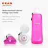 Medical grade BPA free Silicone Sport foldable Water Bottle