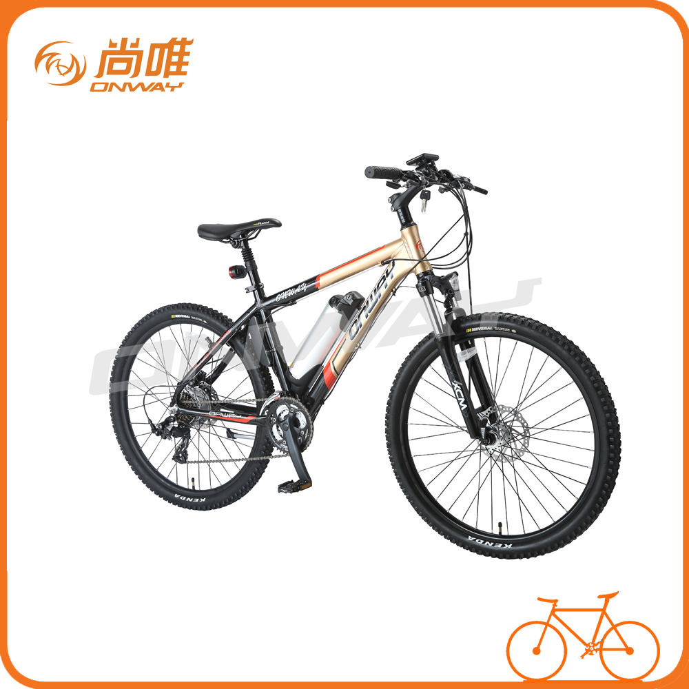 Rechargeable battery full suspension mountain bike