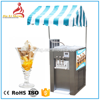 Hot Sale 3 Flavor Soft Ice Cream Machine / 3 Colors Desktop Soft Ice Cream Maker With High Quality