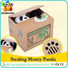 Wholesale gift items plastic custom personalized panda piggy bank