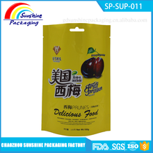 Safety Food Grade Stand Up Plastic Bag for Prunes Packaging