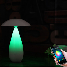 3W mushroom sharp Wireless Touch Light LED Speaker Smart bluetooth eyecare desk lamp