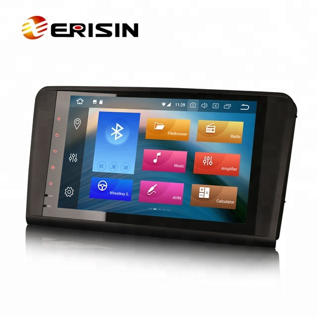 Erisin ES7494L 9&quot; Android 8.0 Car DVR <strong>GPS</strong> Sat Nav 4G WiFi DAB+ TPMS for Mercedes Benz ML Class <strong>W164</strong>