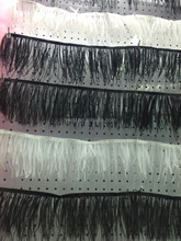 white Ostrich Feather fringe