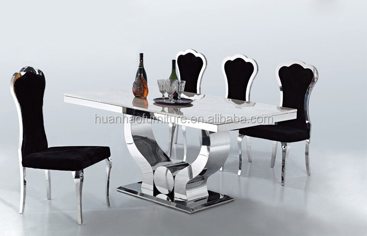 The latest modern dining table with chairs glass dinning sets DH-1409