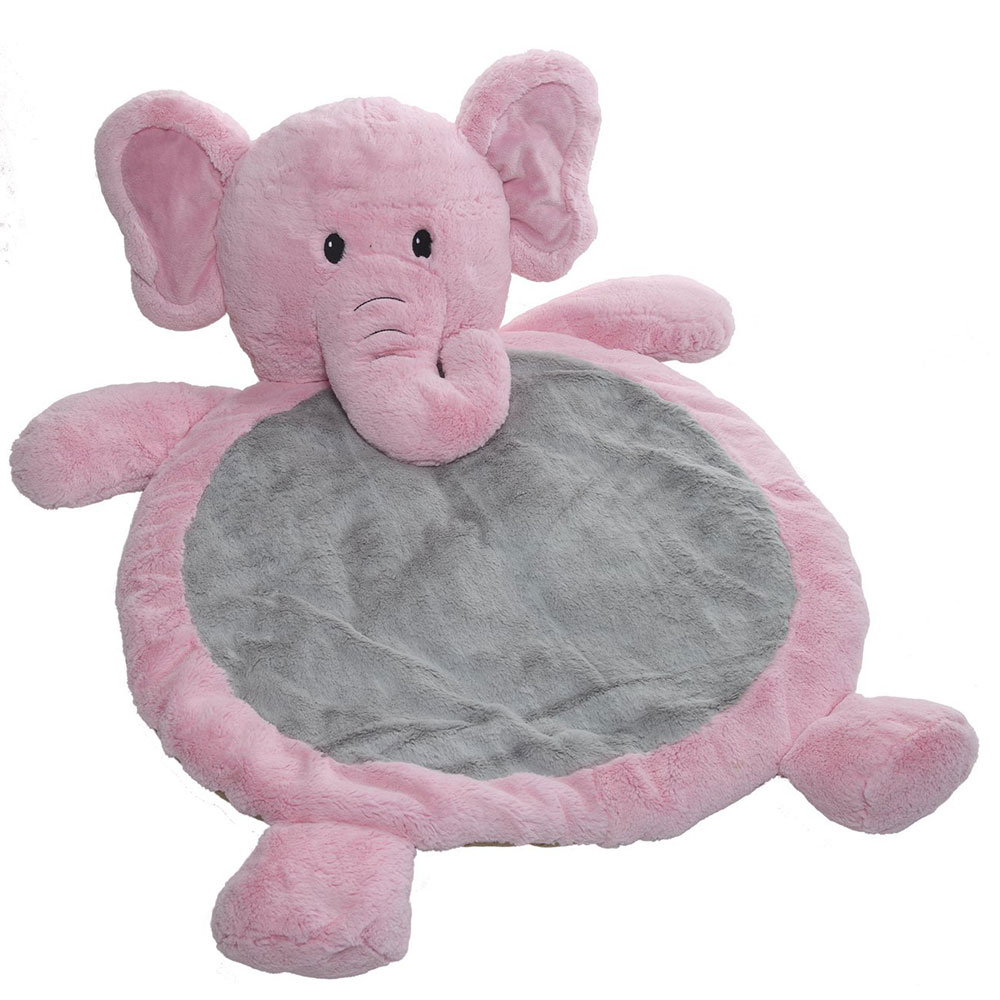 Children carpet toy pink elephant kids play mat baby with safety super soft material