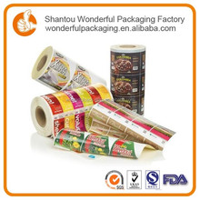 China supply food grade laminated material roll film/mylar for cookies / candy / jelly packaging