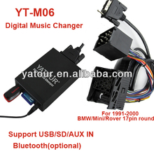 Yatour YT-M06 Car audio USB/SD/AUX IN Vcarlink MP3 kit player for BMW>Car audio Bluetooth kit