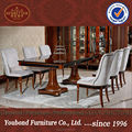 0068 Modern classic dining room set, piano paint eating table and chair furniture