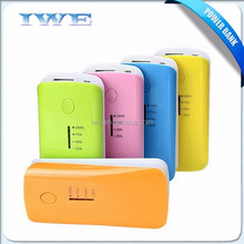 China supplier promotion items mobile charger bank 2016 menu power bank 5600 5200 mah with led flash