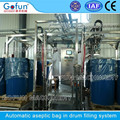 Aseptic bag filling machine for tomato paste