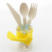 6.5inch Disposable Small Wooden Cutlery /Spoon /Fork /Knife