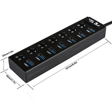 OEM High Speed Computer USB Charging Por Hub Suppliers 7 Port USB 3.0 Hub