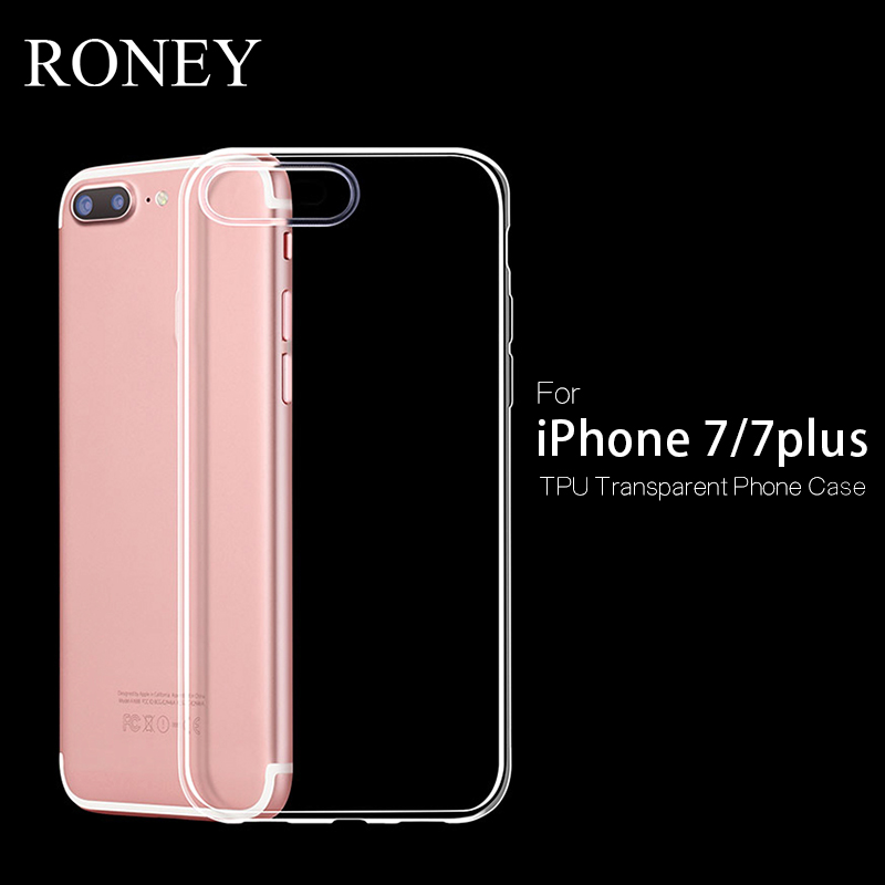 cell phone accessory ultra slim crystal rubber tpu soft phone case for iphone 7
