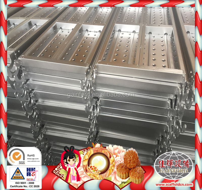 BS1139 Hot dip galvanized kwikstage composite scaffolding metal catwalk frp scaffold board with hooks in best price to Vietnam