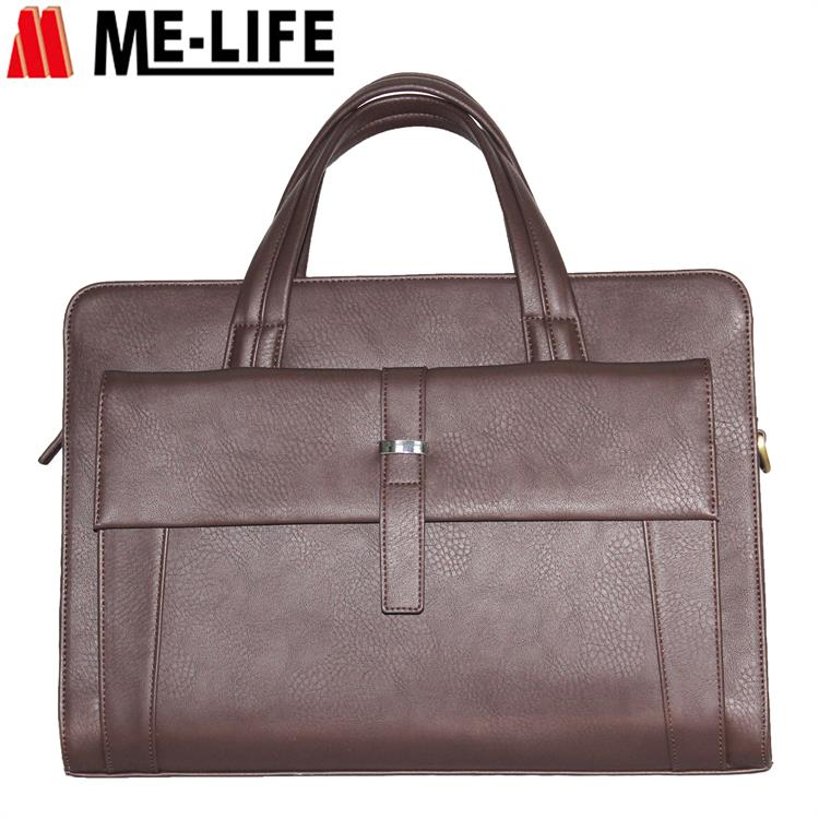 Office leather executive computer briefcase bags fot men