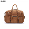 Designed leather man travel duffle bag
