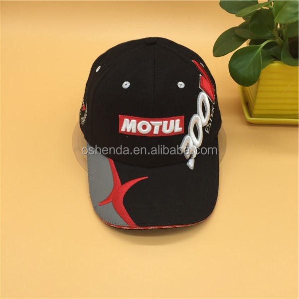 Top Design 3D Embroidered Fashion baseball caps stylish cycling hats