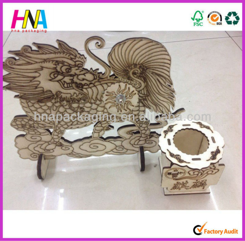 Wooden dragon jigsaw toy 3D jigsaw puzzle model