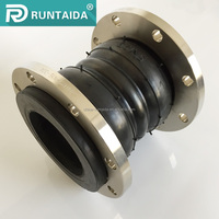 Hot sale flexible twin sphere rubber expansion joint with flange