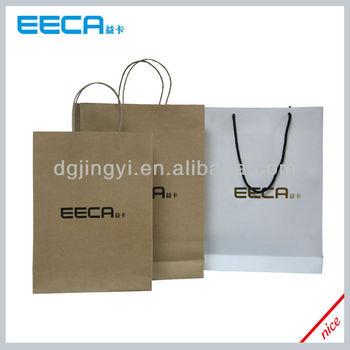 Recycled paper kraft bag/eco paper shopping bag printing made in China