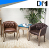Italian style sofa set living room furniture, leather coffee chair